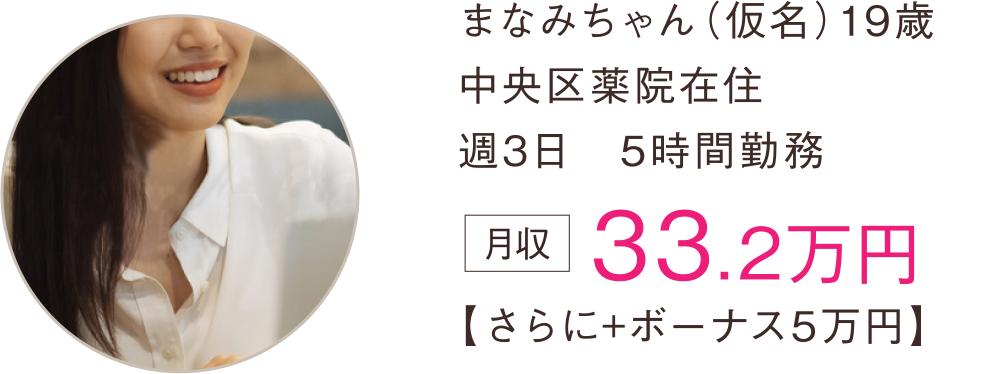 まなみちゃん(仮名)19歳