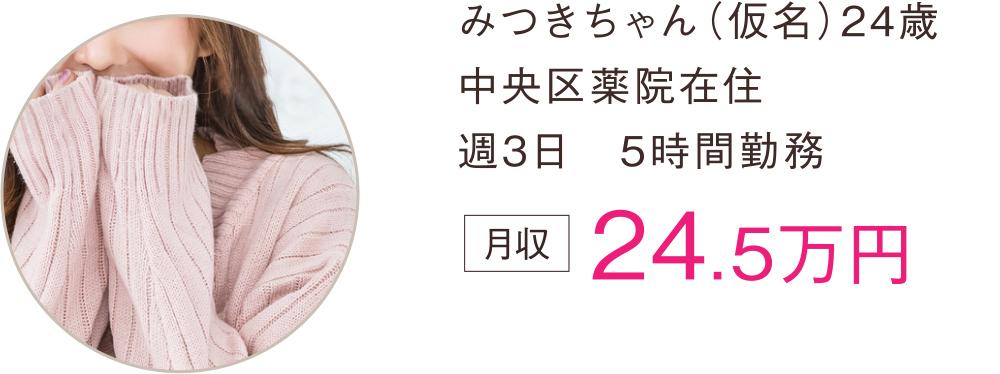 みつきちゃん(仮名)24歳